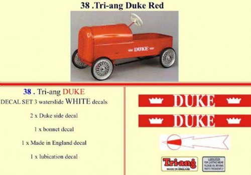 38 Tri-ang Duke Red